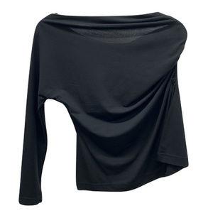 Neiman Marcus One-Shoulder Blouse